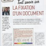 La fixation d'un document Passion cadres n°29